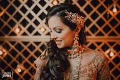 An Intimate Agra Wedding With A Pastel Floral Bridal Lehenga Indian Wedding Planning, Wedding Planning Websites, Wedding Vendors, Wedding Events, Indian Bridal Hairstyles, Bun Hairstyles, Bridal Hair Buns, Bride Portrait, Wedding Function