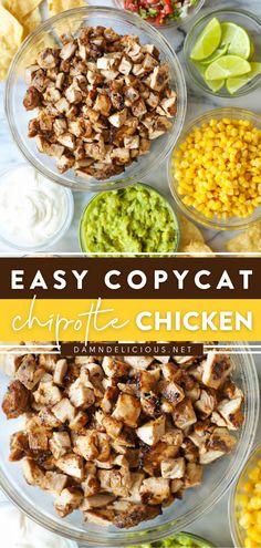 I Love Food, Good Food, Yummy Food, Yummy Yummy, Yummy Recipes, Delish, Dinner Recipes, Chipotle Chicken Copycat, Party