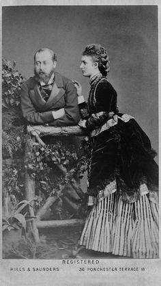 Edward VII and Queen Alexandra then Prince & Princess of Wales.