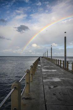 Double Rainbow Pier by Denis Ananiadis, via 500px