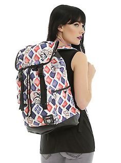 DC Comics Suicide Squad Harley Quinn Large Slouch Backpack,