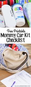 Creating a Car Kit for Moms with a Free Printable by Ella Claire
