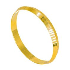 Yellow Gold Kada Bangle for Men W/ Laser Details on Split Smooth Frame Mens Gold Jewelry, Gold Jewellery Design, Gold Chains For Men, Angel Wing Earrings, Accent Pieces, Bracelets For Men, Gifts For Friends, Diwali 2018, Bangles
