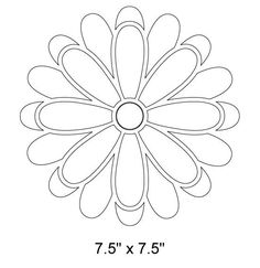 Flower Stencil For Garden Tree