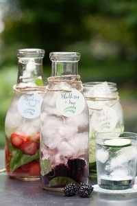 Saturday Sips! Flavored Waters with tags and coasters from Evermine {www.evermine.com}