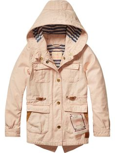2a07a020eda83 Cotton Safari Parka Belle, Hooded Jacket, Safari, Parka, Kids Fashion,  Scotch