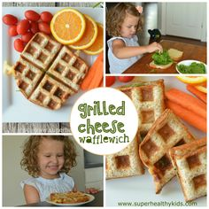 Kids can make these grilled cheese sandwiches all by themselves! And even add the spinach!