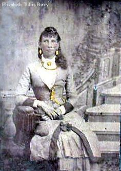 Elizabeth Tullis Berry (mother of Mary Ann Berry) at Hog Mountain, Georgia - Cherokee - before 1863