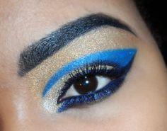 Egyptian Blue Eye Makeup For Women