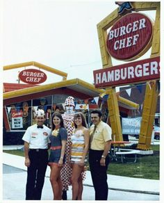 Burger Chef Hamburgers -- my first job was at a burger chef in 1973