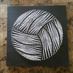 Volleyball Workouts Discover Black with White Volleyball String Wood Wall Art Volleyball Bedroom, Volleyball Crafts, Volleyball Memes, Volleyball Workouts, Volleyball Drills, Volleyball Decorations, Volleyball Wallpaper, Volleyball Backgrounds, String Wall Art