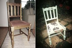 here are some of the furniture pieces we've done's before and after pictures. Before And After Pictures, Dining Chairs, Furniture, Home Decor, Decoration Home, Room Decor, Dining Chair, Home Furnishings, Home Interior Design