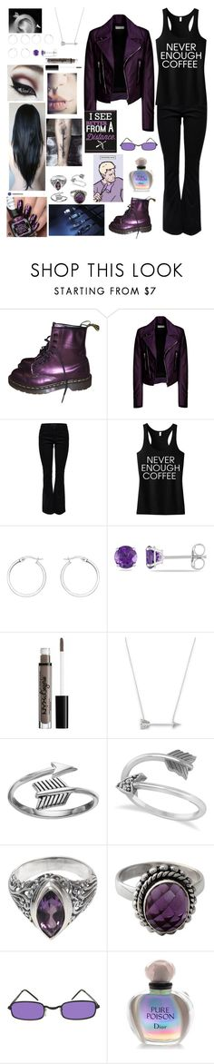 """Never enough Coffee"" by banasheeanni ❤ liked on Polyvore featuring Dr. Martens, Balenciaga, Lipsy, IBB, Allurez, Estella Bartlett, Primrose, NOVICA, Marvel and Christian Dior"