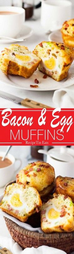 Bacon and Egg Breakfast Muffins | Made these for the fam last weekend, they were a MASSIVE HIT!!!