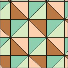 A variation on a square pattern.