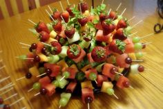 Fruit Kabobs - centerpiece