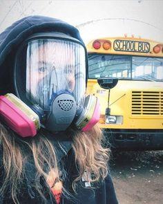 Gas Mask Girl, Respirator Mask, Beachwear, Swimwear, Outfit Of The Day, Street Style, My Favorite Things, Girls, Model