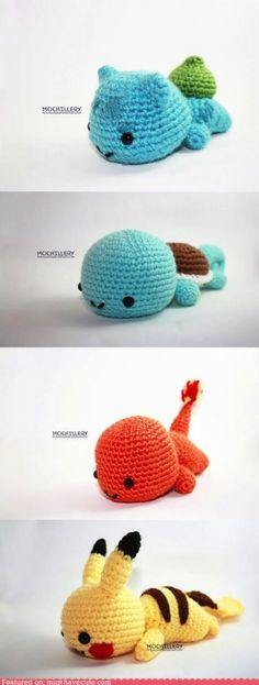 Amigurumi Pokemon Pattern at http://mochillery.tumblr.com/