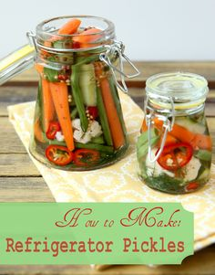 Capture the flavors of summer is through pickling.  If you don't want to deal with the hassle of home canning, refrigerator pickles are a great option.