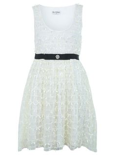 Cream Bow Bubble Dress