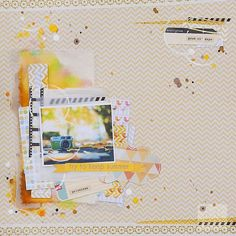 i lowe scrap - love the layers and the photo.