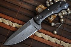 Handmade Beautiful Bushcraft Knife - Damascus Steel- perfect for bushcraft and camping Camping Knife, Bushcraft Knives, Handmade Knives, Damascus Steel, Knifes, Beautiful, Knives, Knife Making