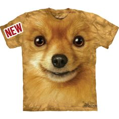 Pomeranian Face T-Shirt Great Christmas Gift Big Pet Animal Face Tie... ($19) ❤ liked on Polyvore featuring tops, t-shirts, silver, women's clothing, graphic design t shirts, tie dyed t shirts, christmas t shirts, graphic shirts and tie-dye shirts