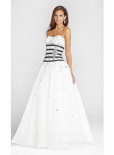 A-Line Organza Sweetheart Long Dress Charm86524