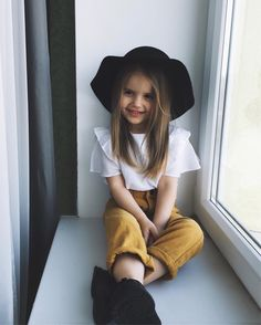 kids outfits | black hats | cute outfits | blouses | colored pants | dressy | toddlers