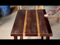 Luxo do lixo retalhos de madeira viram linda mesa