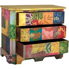Bohemian Chic Furniture   Hand Painted Floral Chest   Bohemian Chic  ($1,895) .