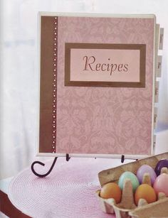 Make a recipe book filled wuth our fav recipes and ones cheap and easy for brandon to make