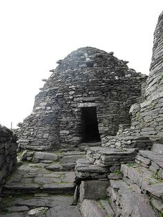 Skellig Michael , Skellig Islands. Ireland saved culture during the dark ages .When the Roman empire fell the monks who fled to Ireland were able to preserve ancient texts safely.