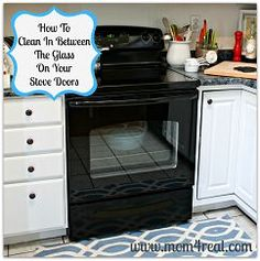 Clean the space between the glass of your oven door!