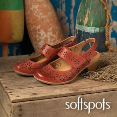 Slip into style with pillowy soft, cushioned comfort in Softspots Safia Mary Jane Shoes.