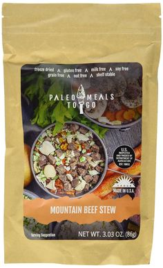 Paleo Mountain Beef Stew - Meal for Backpacking / Camping