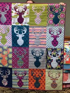 Trophy quilt... can be done with different animal blocks.