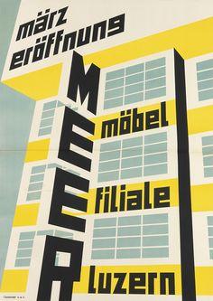 Designer unknown, März Eröffnuns, MEER, Möbel filiale Luzern, (furniture branch). (Switzerland)