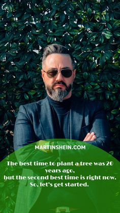 The best time to plant a tree was 20 years ago, but the second best time is right now. So, let's get started. Lets Get Started, Second Best, Life Motivation, 20 Years, Mindset, Coaching, Entrepreneur, Success, Plant
