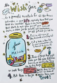 Wish Jar : Such a fun powerful tool for manifesting. Everyone should have one.