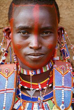 Maasi tribes woman, Kenya PEOPMA_005.psd | Art Wolfe Stock Photography 888-973-0011