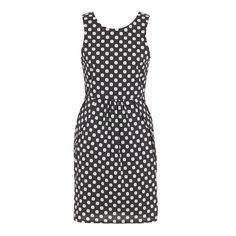Tulip-shape shift dress Black/White - spree.co.za