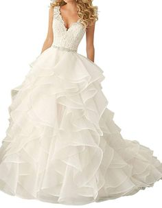 181c59c74f3 online shopping for Beauty Bridal Sexy V Neck 2016 Ruffles Organza Wedding  Dresses Bride Gown from top store. See new offer for Beauty Bridal Sexy V  Neck ...