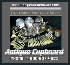 Antique Cupboard is THE place to find sterling silver flatware, and silverware. Search our online database for just the right silver items. Sterling Silverware, Sterling Silver Flatware, Antique Cupboard, Dollar, Shops, Place Card Holders, Patterns, Antiques, Simple