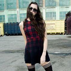 fade to black. Tartan, Plaid, Fade To Black, Grunge Girl, Grunge Fashion, Gothic, Style Inspiration, Shirts, Tops