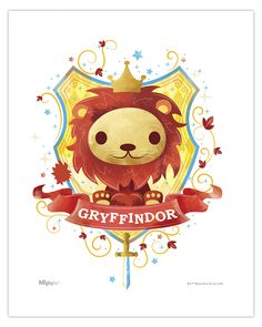 Harry Potter (Gryffindor Watercolor) MightyPrint Wall Art MP08100450