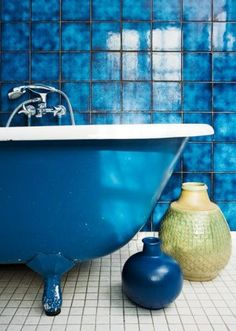 A bathroom for me. | Ode to Blue | Pinterest | Blue tiles ...