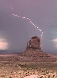 Desert lightning strike