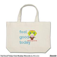 Shop Free Hugs-Cute Monkey-Morocko Large Tote Bag created by Morocko. Cute Monkey, Free Hugs, Feel Good, Totes, Reusable Tote Bags, Feelings, Birthday, Fun, Gifts