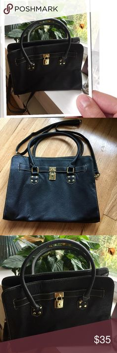 """💯VEGAN LEATHER BAG NWT ✅OFFERS ACCEPTED✅ Perfect everyday bag! Made of PVC which is indestructible. 2 large compartments with large center zipper pocket and side zipper pocket for smaller items. Brass tone hardware. Removable shoulder strap adjustable to 40"""".  Any questions please ask. Offers accepted. Bundle for savings. Tx for browsing! Marian 🌹 Bags Shoulder Bags"""